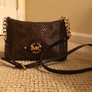 Michael Kors croc leather cross body bag